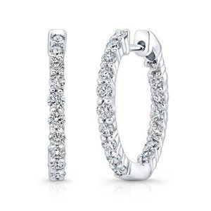 Jewelry - 4.80 Carats sparkling brilliant diamonds Hoop earr